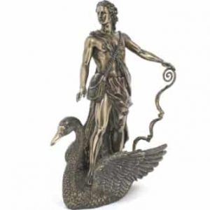 APOLLO romaine Mythology Statue de cygne Bronze Poudre Sculpture en fonte, 11 ""