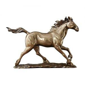DIAOSUJIA Abstract Animal Froid Figurine Statue en Cuivre Coulé Beau Cheval Cheval en Bronze Sculpture Art Décoration Décorations Accueil Artisanat De Résine