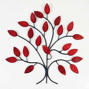 Wall Art - Art mural - Sculpture Arbre d'automne Rouge